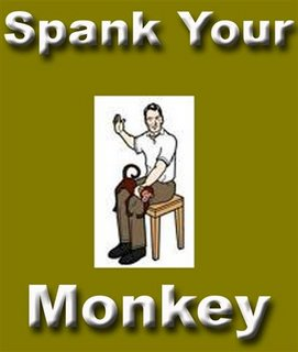 Can spank the red monkey for the